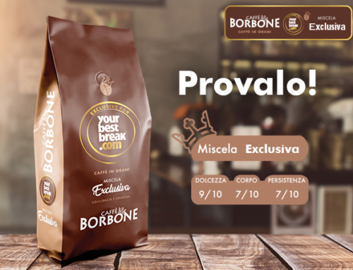 Caffè Borbone presenta la miscela Exclusiva per Your Best Break